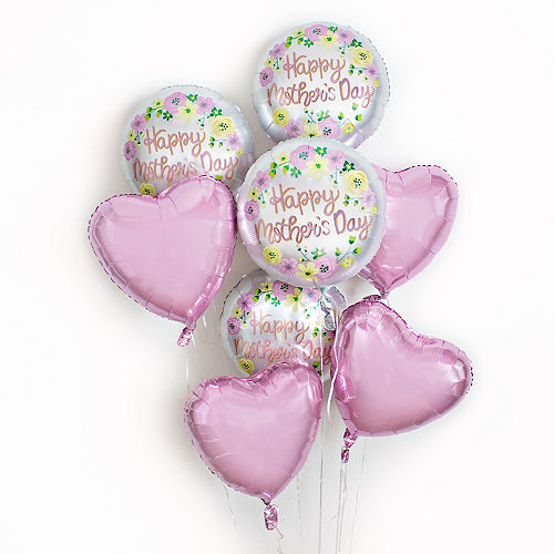 Floral Satin Mother's Day Balloon, 18in Image #2