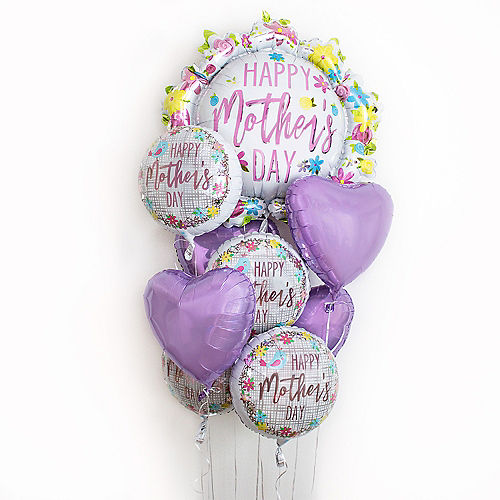 Floral Mother's Day Satin Flower Balloon, 25in Image #2