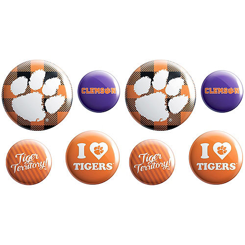 Clemson Tigers Buttons 8ct Image #1