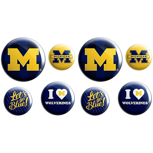 Michigan Wolverines Buttons 8ct Image #1