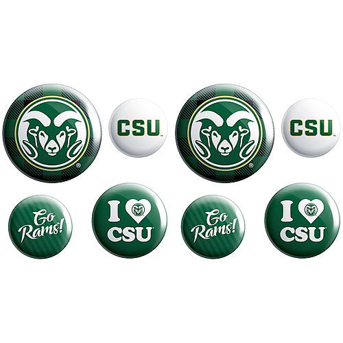 Colorado State Rams Buttons 8ct Image #1