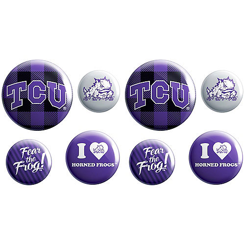 TCU Horned Frogs Buttons 8ct Image #1
