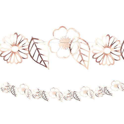 Ginger Ray Metallic Rose Gold Flower Garland Image #1