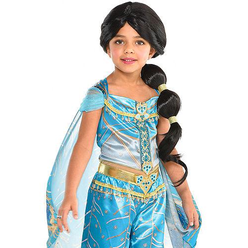 Child Jasmine Ponytail Wig - Aladdin Image #1