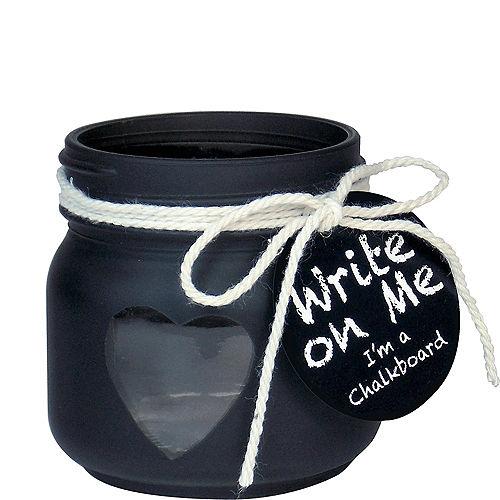 Chalkboard Mason Jar Votive Candle Holders 6ct Image #1