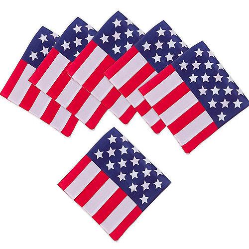 American Flag Bandana 10ct Image #1