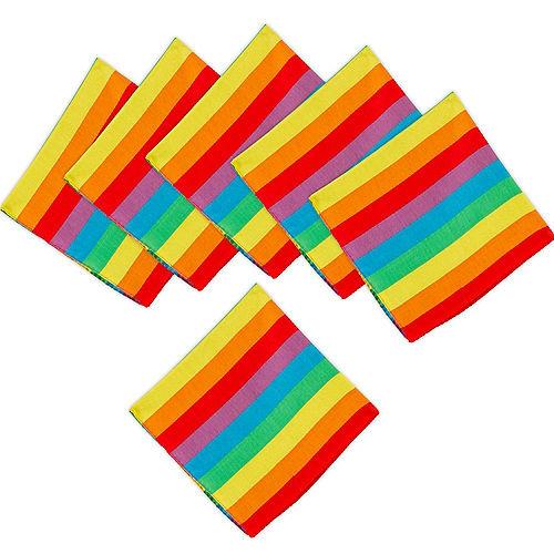 Rainbow Stripe Bandanas, 20in x 20in, 10ct Image #1