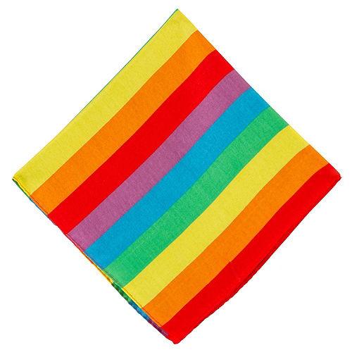 Rainbow Stripe Bandanas, 20in x 20in, 10ct Image #2