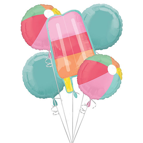 Just Chillin' Balloon Bouquet 5pc Image #1