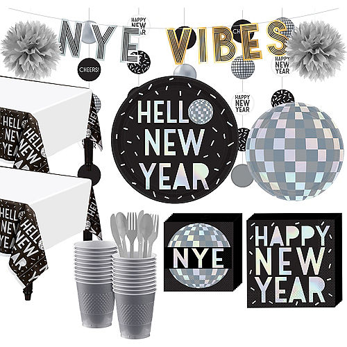 Super Disco New Year's Eve Party Kit for 16 Guests Image #1