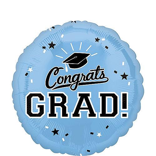 Powder Blue Congrats Grad Balloon Image #1