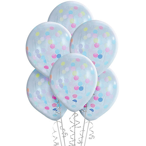 Ginger Ray Pastel Confetti Balloons 5ct, 12in Image #2