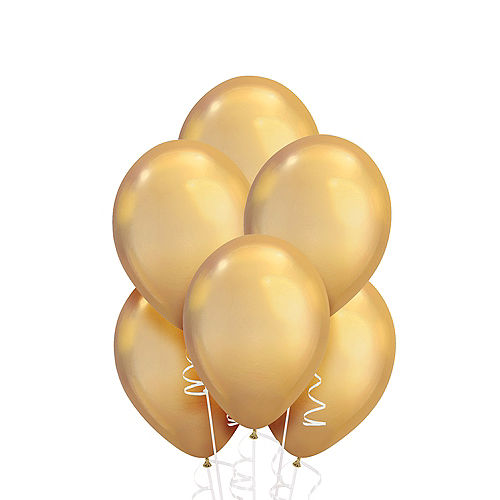 Gold Chrome Balloons 25ct, 11in Image #1