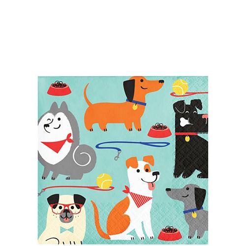 Dog Beverage Napkins 16ct Image #1