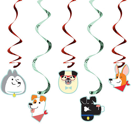 Dog Swirl Decorations 5ct Image #1