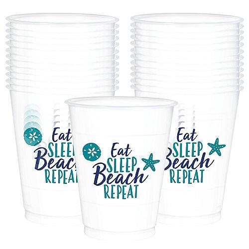 Sea Sand Sun Plastic Cups 25ct Image #1