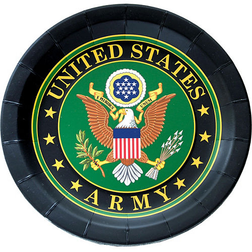 US Army Lunch Plates 8ct Image #1