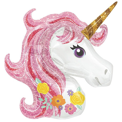 Magical Unicorn Balloon Bouquet Kit 17pc Image #2