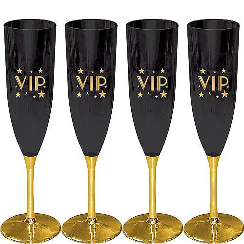 Metallic Gold VIP Champagne Flutes 4ct Image #1