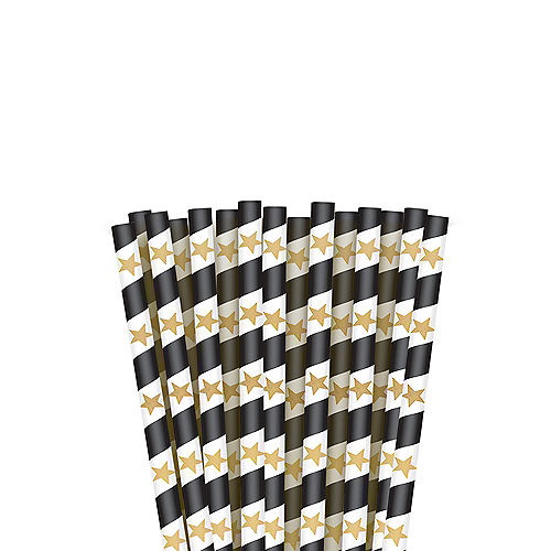 Hollywood Paper Straws 24ct Image #1