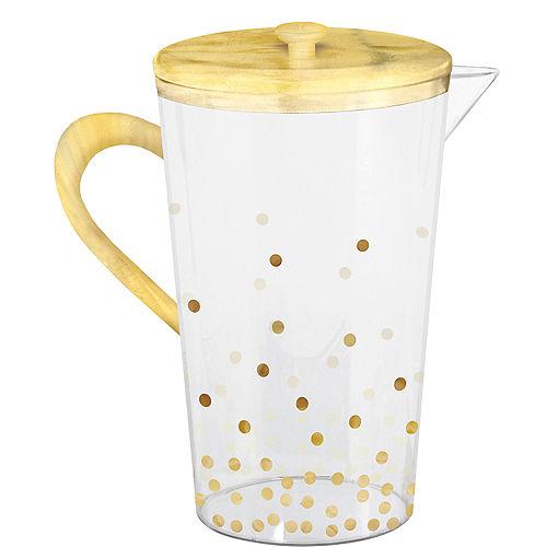Metallic Gold Polka Dot Pitcher Image #1