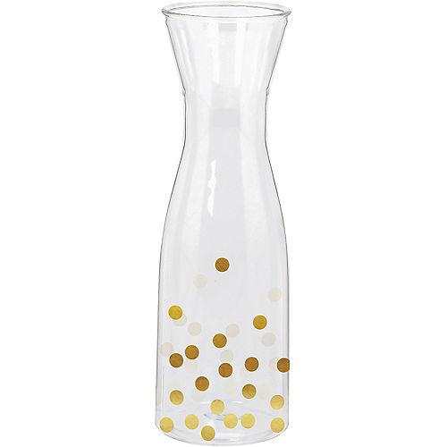 Metallic Gold Polka Dot Wine Pitcher Image #1