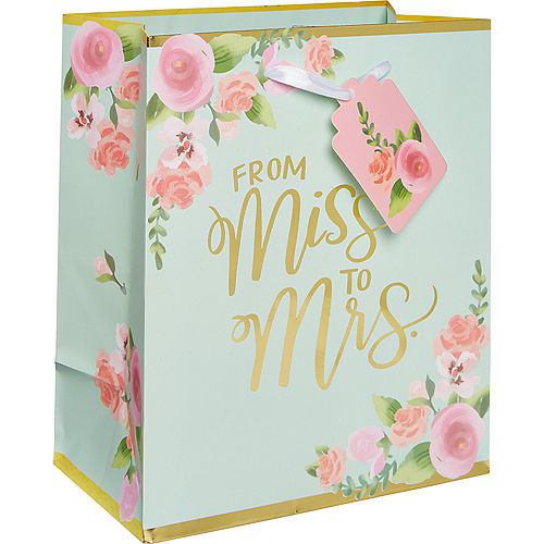Small Paper Mint to Be Floral Gift Bag Image #1