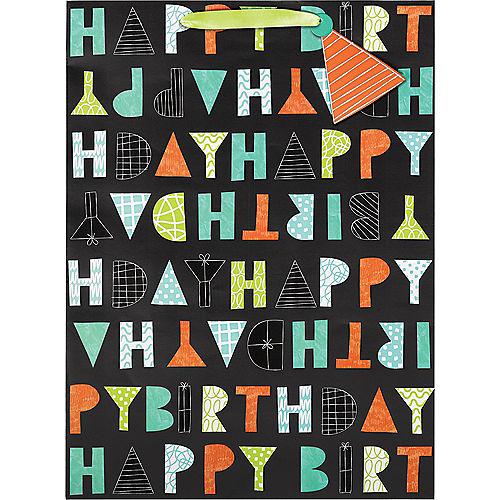 Large Paper Patterned Letter Birthday Gift Bag Image #2