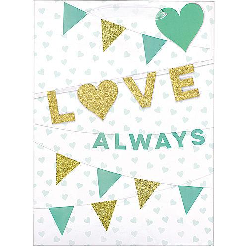 Glitter Gold & Mint Love Always Gift Bag Image #1