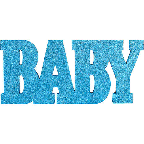 Glitter Blue Baby Stand Sign Image #1