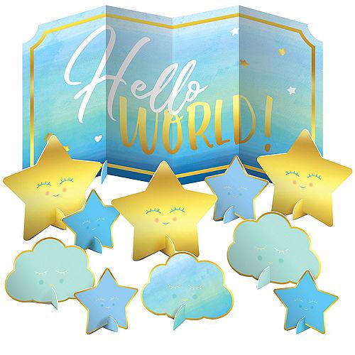 Blue Hello World Table Decorating Kit 11pc Image #1