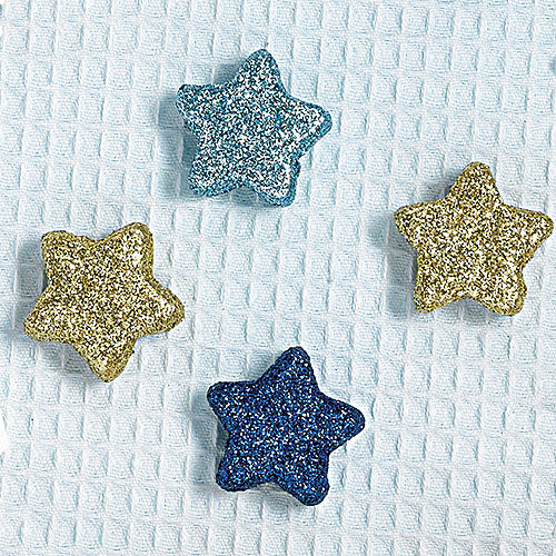 Blue & Gold Glitter Star Table Scatters 32ct Image #2