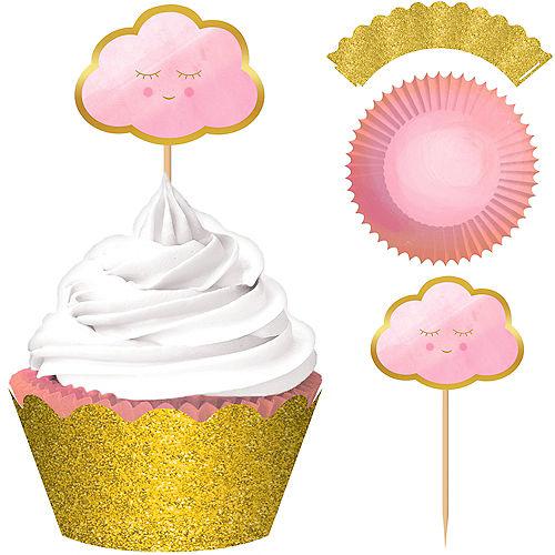 Pink Happy Cloud Cupcake Decorating Kit for 24 Image #1