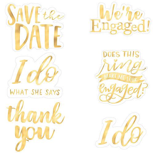 Jumbo Metallic Gold & White Engagement Photo Props 7ct Image #1