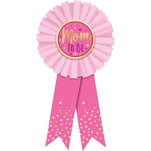 Pink Mom-To-Be Award Ribbon Image #1