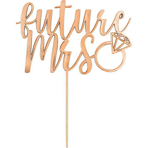 Rose Gold Future Mrs. Cake Topper Image #1