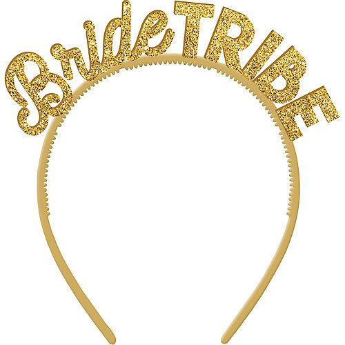 Gold Glitter Bride Tribe Headbands 6ct Image #1