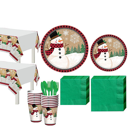 Winter Wonder Snowman Party Kit for 32 Guests Image #1