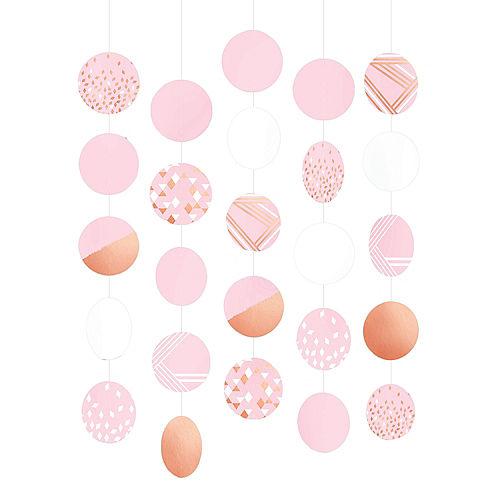 Metallic Rose Gold & Pink String Decorations 5ct Image #1