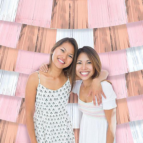 Metallic Rose Gold & Pink Fringe Banners 9ct Image #1