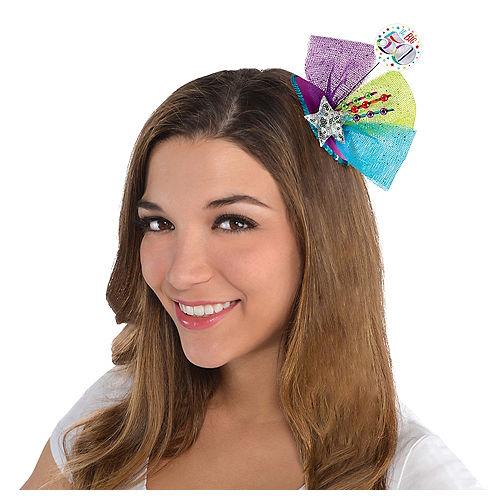 Clip-On Multicolor 50th Birthday Fascinator Hat Image #2
