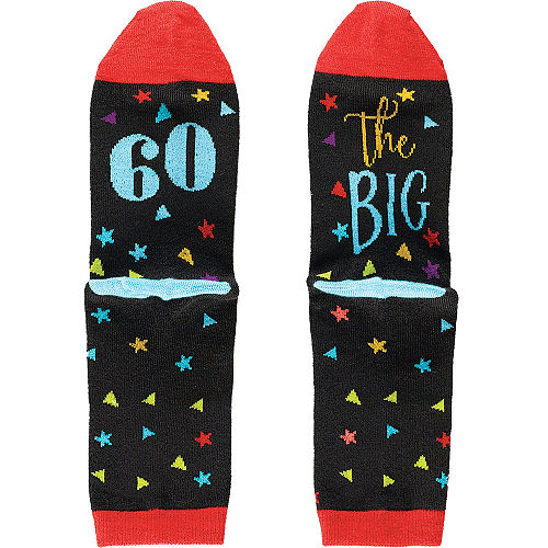 Multicolor 60th Birthday Crew Socks Image #1