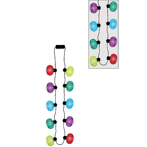 Light-Up Multicolor 30th Birthday Necklace Image #1