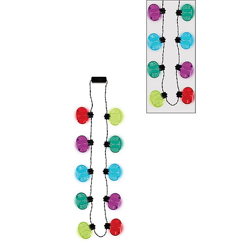 Light-Up Multicolor 40th Birthday Necklace Image #1