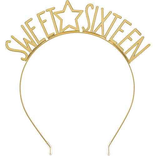 Gold Star Sweet Sixteen Birthday Headband Image #1