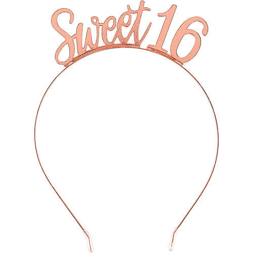 Rose Gold Sweet 16 Birthday Headband Image #1
