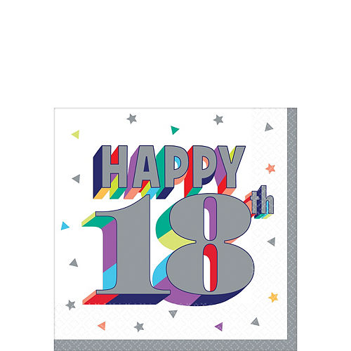 Here's to 18 Birthday Beverage Napkins 16ct Image #1