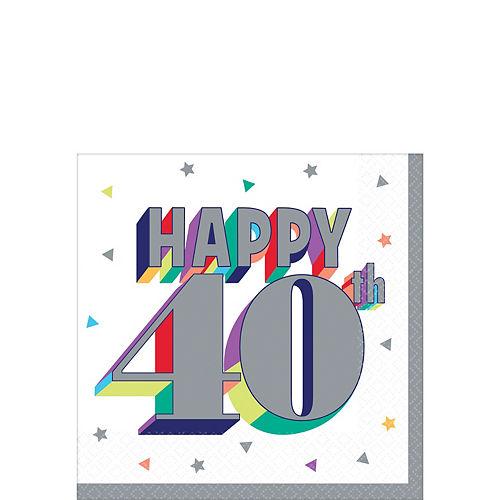 Here's to 40 Birthday Beverage Napkins 16ct Image #1