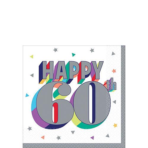 Here's to 60 Birthday Beverage Napkins 16ct Image #1