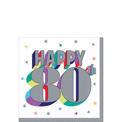 Here's to 80 Birthday Beverage Napkins 16ct Image #1